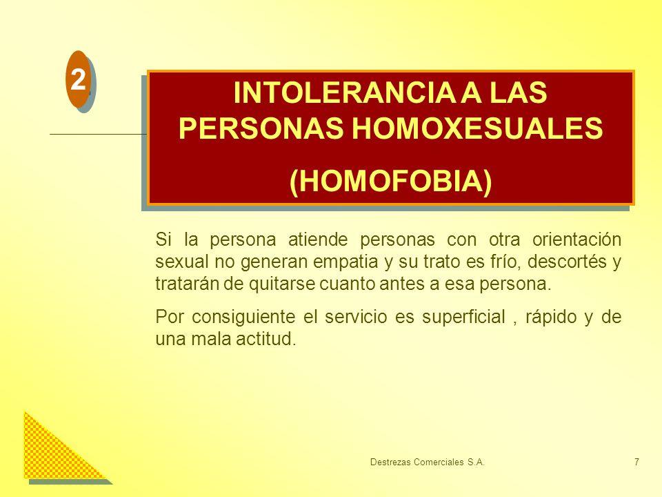 INTOLERANCIA A LAS PERSONAS HOMOXESUALES