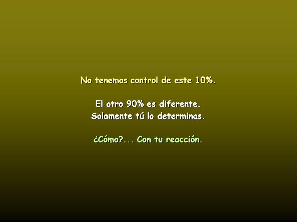 No tenemos control de este 10%. Solamente tú lo determinas.
