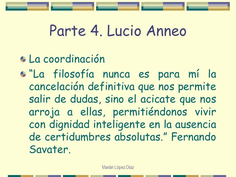 Parte 4. Lucio Anneo La coordinación