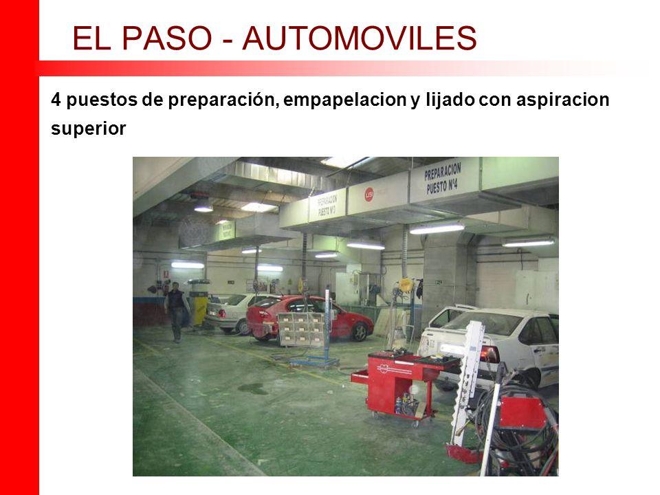 EL PASO - AUTOMOVILES 4 puestos de preparación, empapelacion y lijado con aspiracion superior