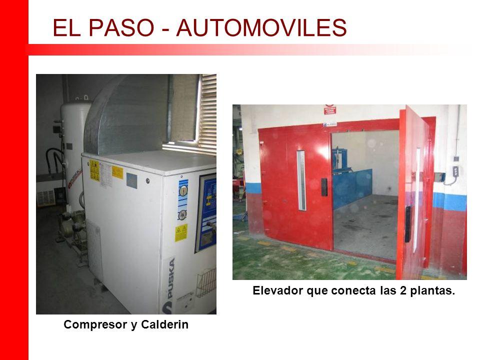 EL PASO - AUTOMOVILES Elevador que conecta las 2 plantas.
