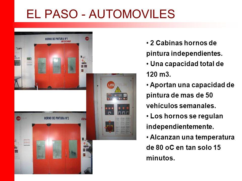 EL PASO - AUTOMOVILES 2 Cabinas hornos de pintura independientes.
