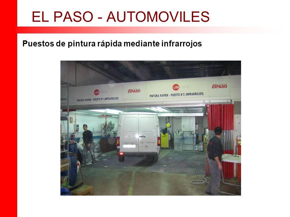 EL PASO - AUTOMOVILES Puestos de pintura rápida mediante infrarrojos