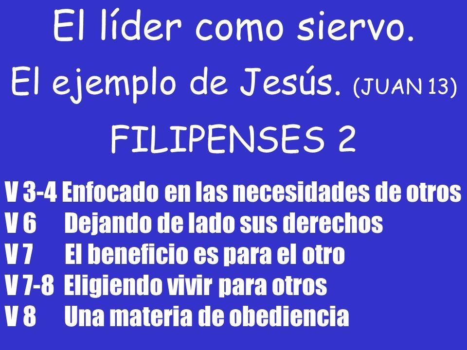 El ejemplo de Jesús. (JUAN 13)