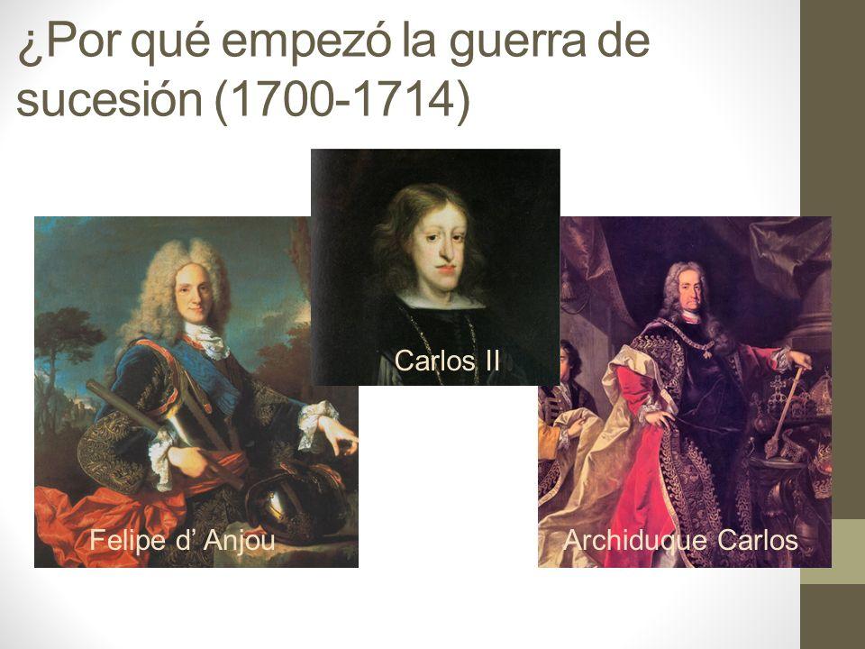¿Por qué empezó la guerra de sucesión (1700-1714)