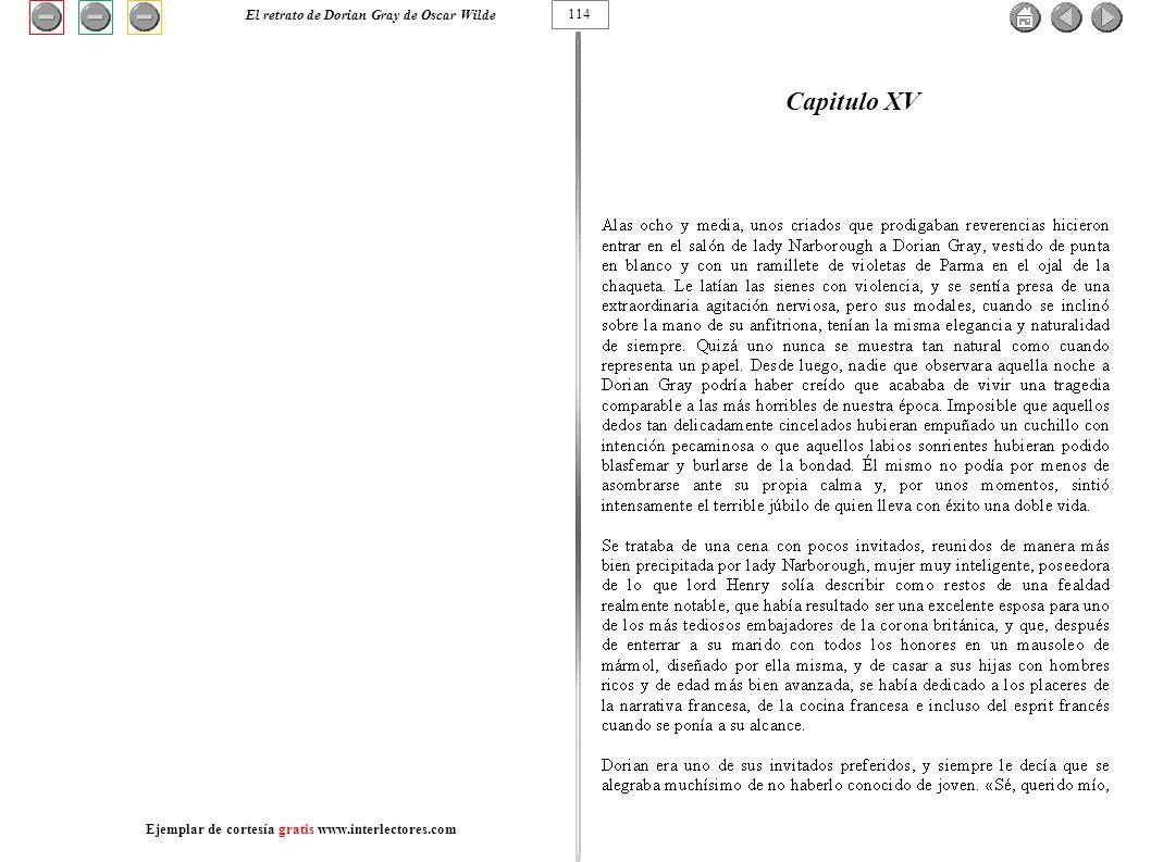 Capitulo XV El retrato de Dorian Gray de Oscar Wilde 114