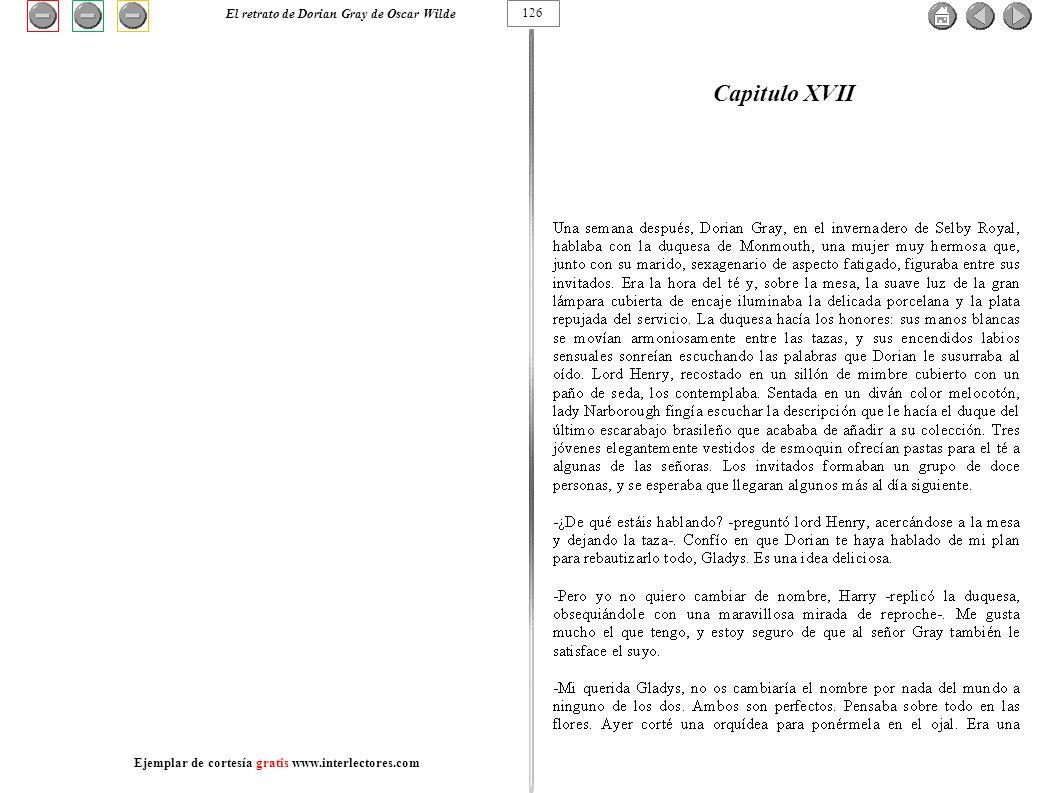 Capitulo XVII El retrato de Dorian Gray de Oscar Wilde 126
