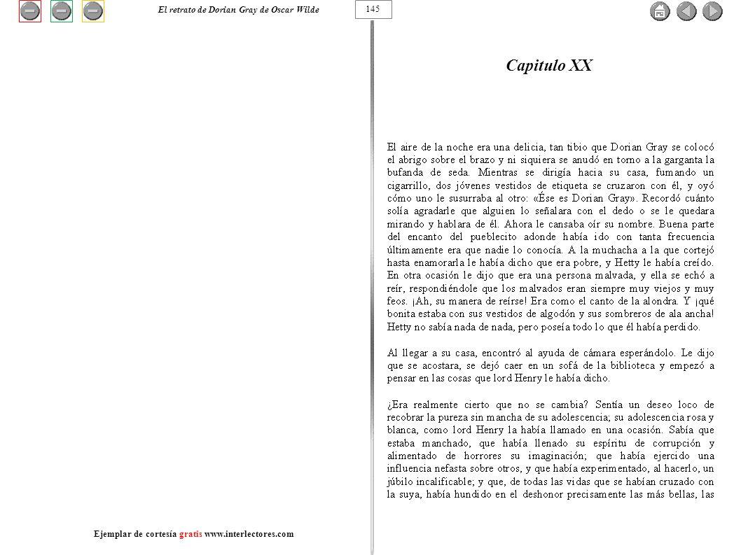Capitulo XX El retrato de Dorian Gray de Oscar Wilde 145