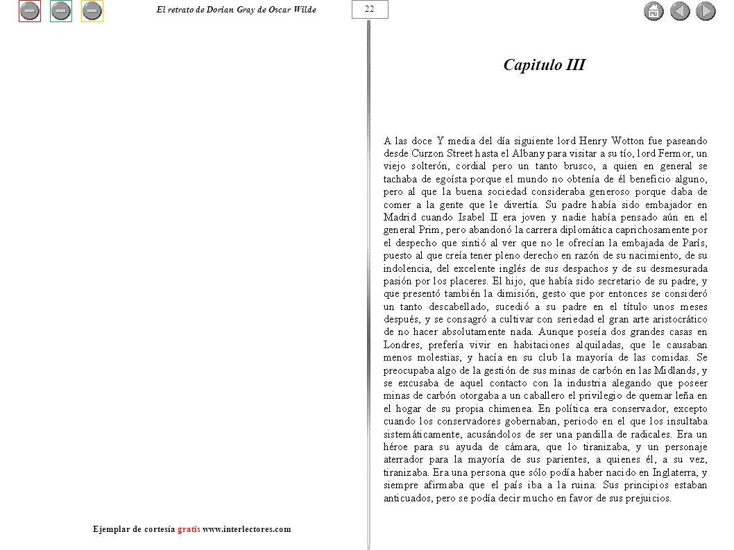 Capitulo III El retrato de Dorian Gray de Oscar Wilde 22