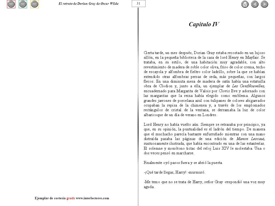 Capitulo IV El retrato de Dorian Gray de Oscar Wilde 31