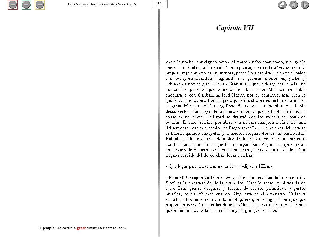 Capitulo VII El retrato de Dorian Gray de Oscar Wilde 55
