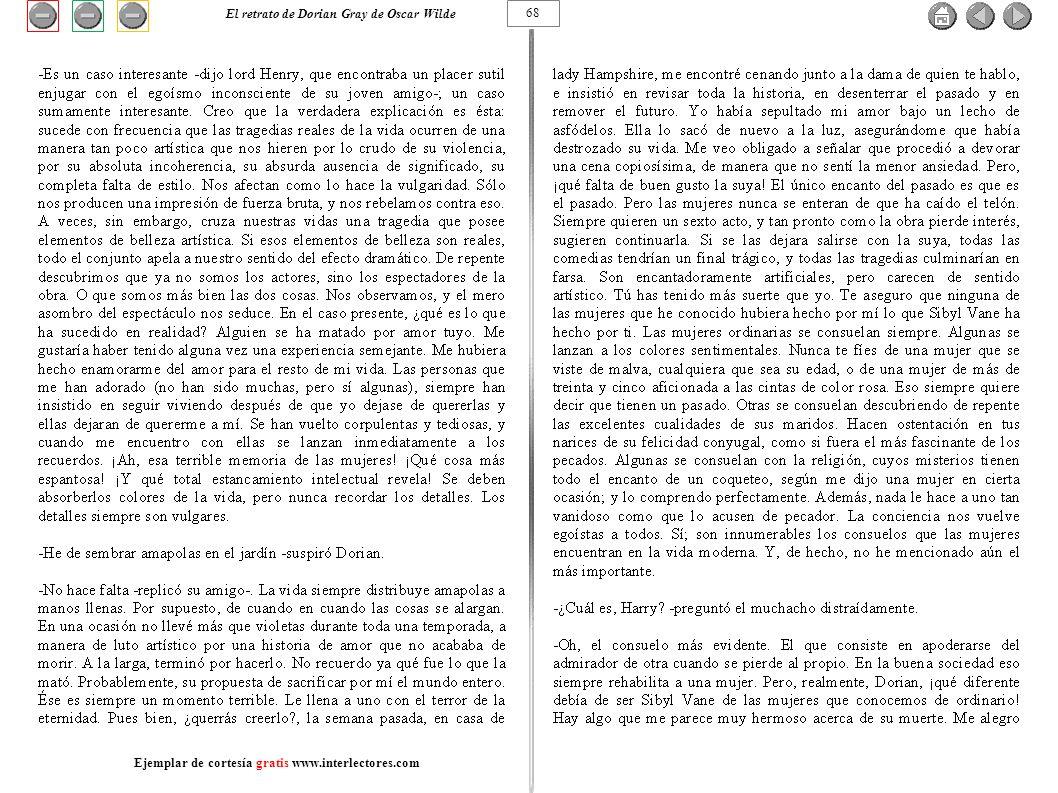 El retrato de Dorian Gray de Oscar Wilde 68