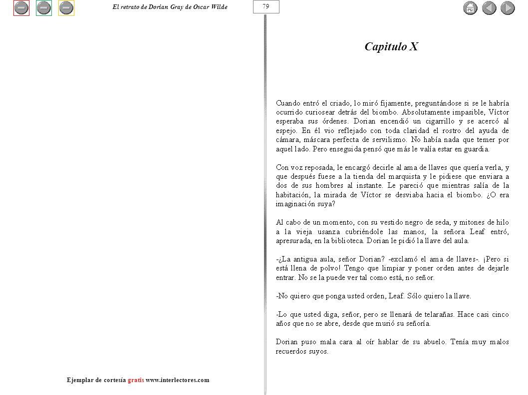 Capitulo X El retrato de Dorian Gray de Oscar Wilde 79