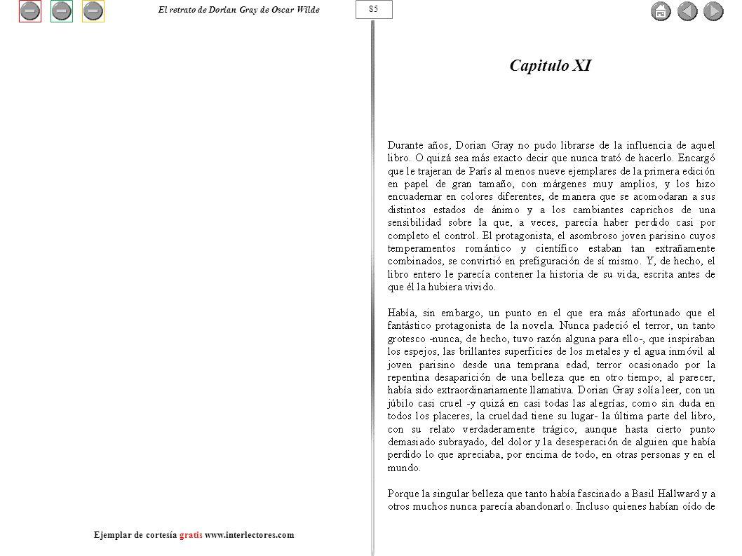 Capitulo XI El retrato de Dorian Gray de Oscar Wilde 85