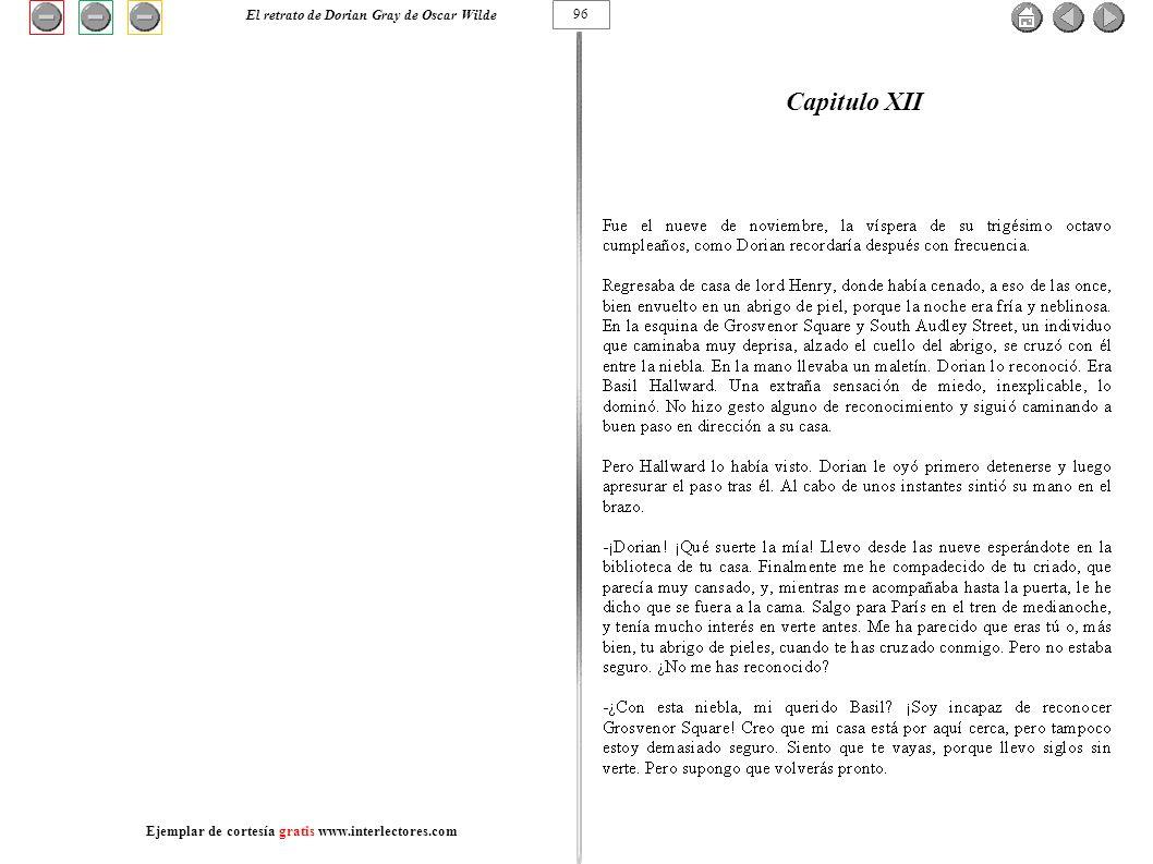 Capitulo XII El retrato de Dorian Gray de Oscar Wilde 96