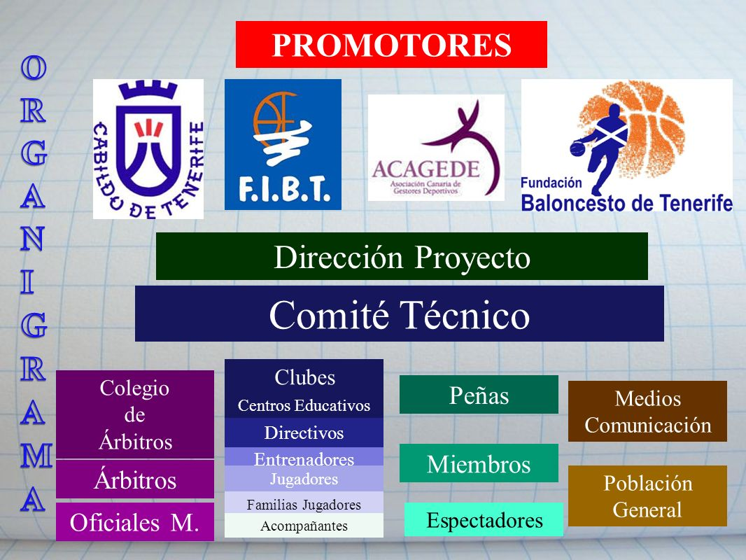 Comité Técnico ORGANIGRAMA PROMOTORES Dirección Proyecto Peñas