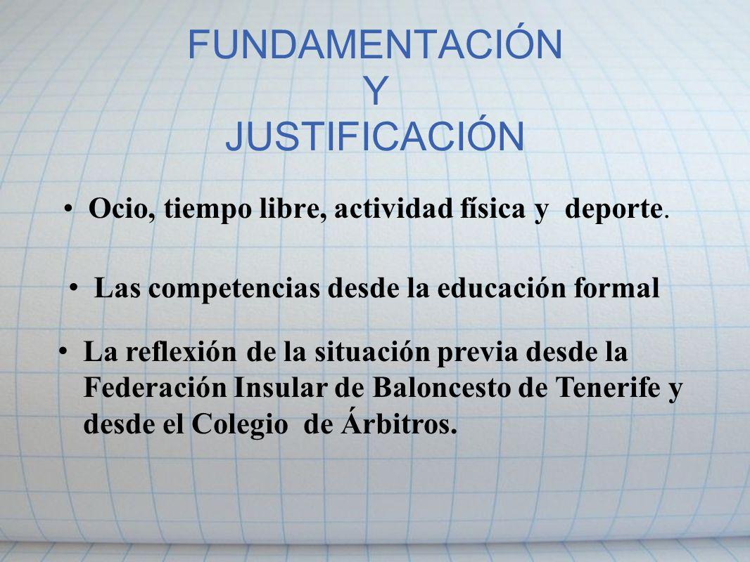 FUNDAMENTACIÓN Y JUSTIFICACIÓN