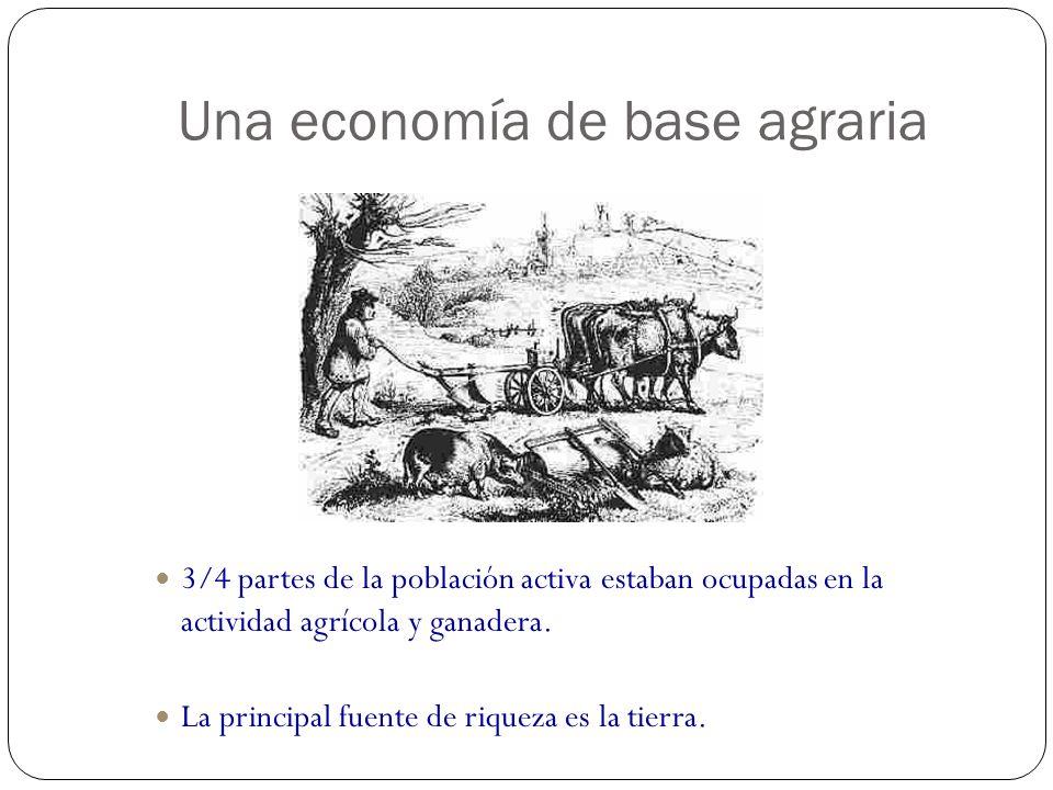 Una economía de base agraria