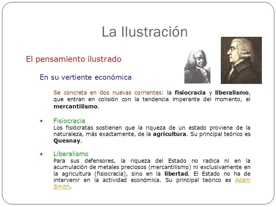 La Ilustración El pensamiento ilustrado En su vertiente económica