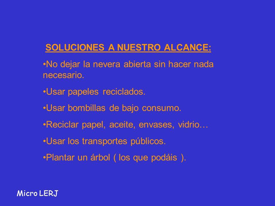 SOLUCIONES A NUESTRO ALCANCE: