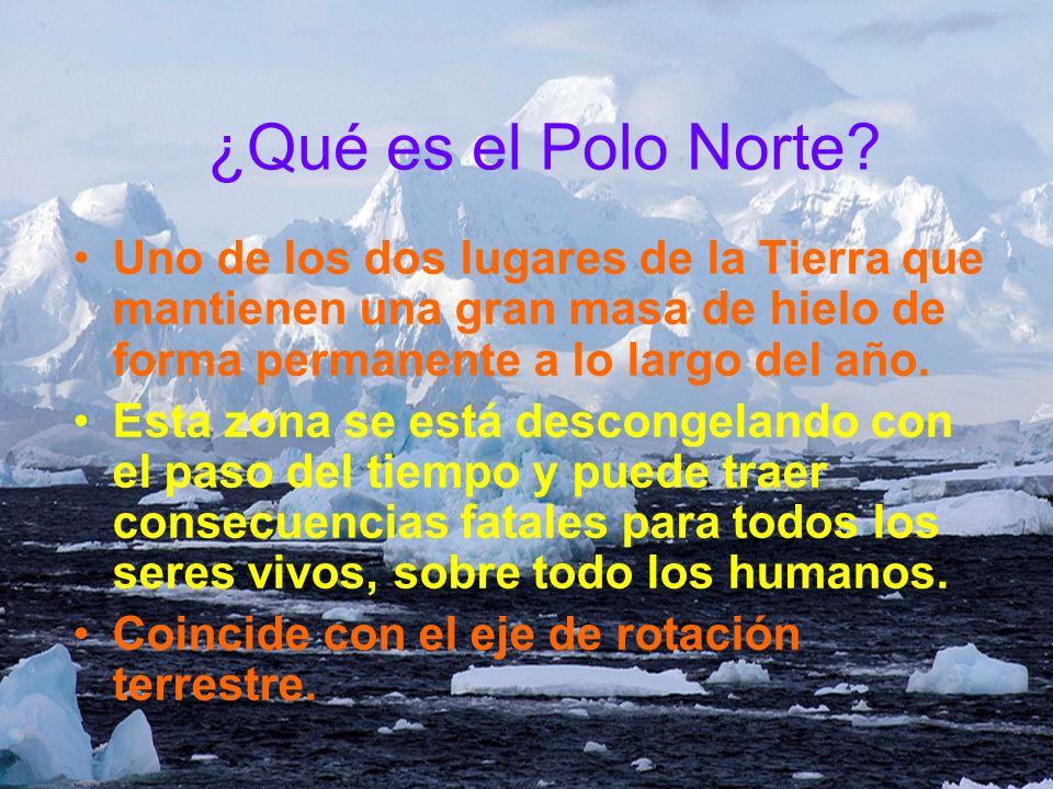 ¿Qué es el Polo Norte Uno de los dos lugares de la Tierra que mantienen una gran masa de hielo de forma permanente a lo largo del año.