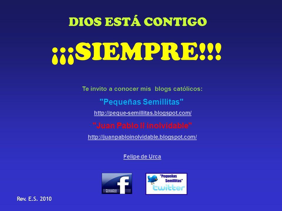 Te invito a conocer mis blogs católicos: