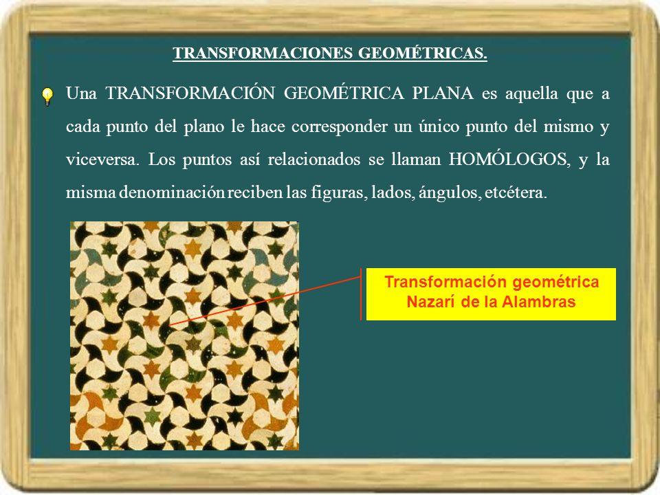 TRANSFORMACIONES GEOMÉTRICAS.
