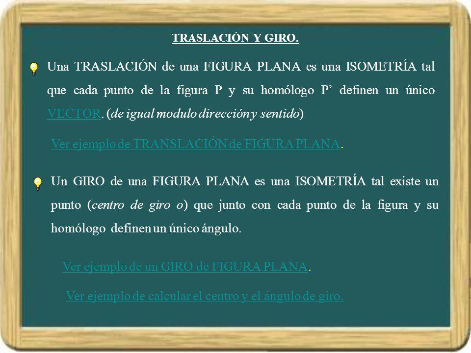 Ver ejemplo de TRANSLACIÓN de FIGURA PLANA.