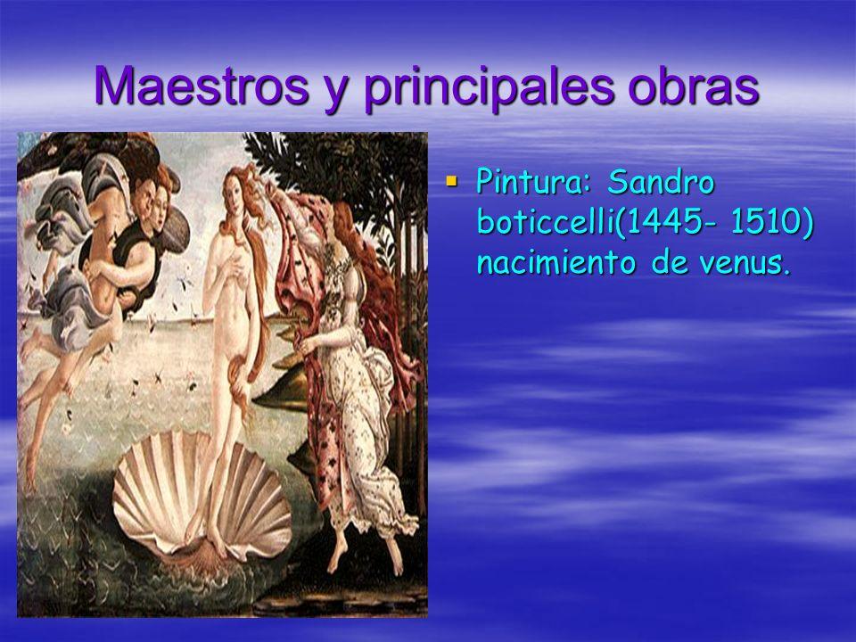 Maestros y principales obras