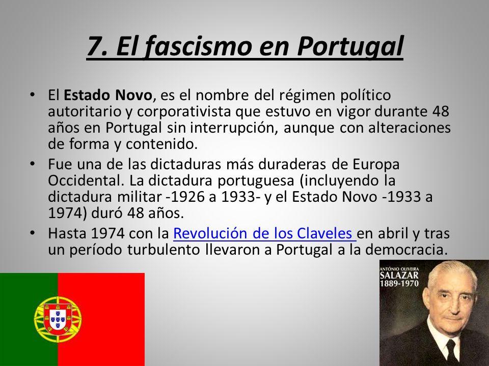 7. El fascismo en Portugal