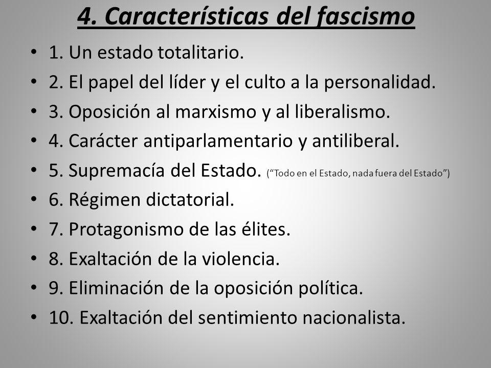 4. Características del fascismo