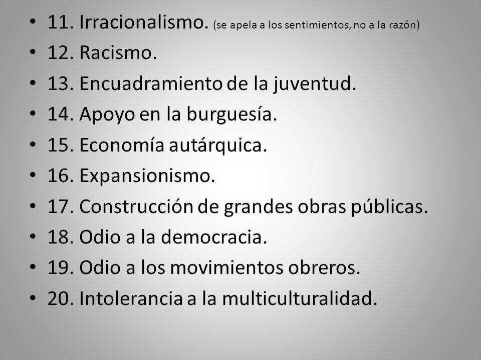 11. Irracionalismo. (se apela a los sentimientos, no a la razón)