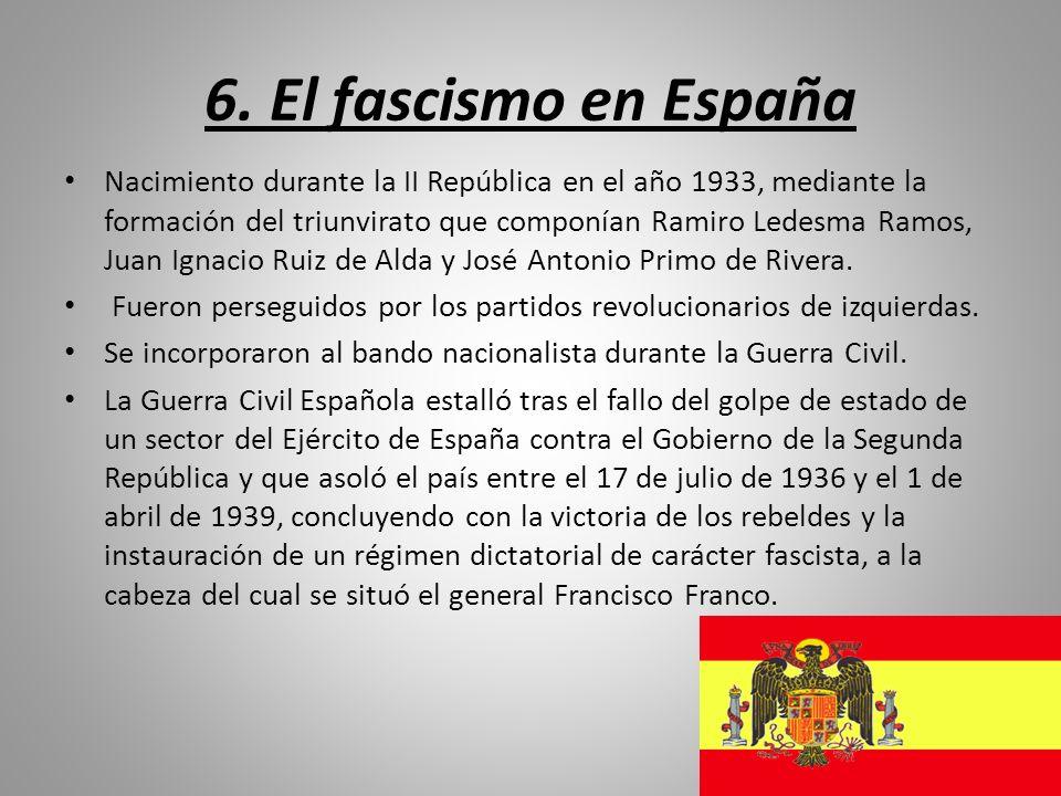 6. El fascismo en España