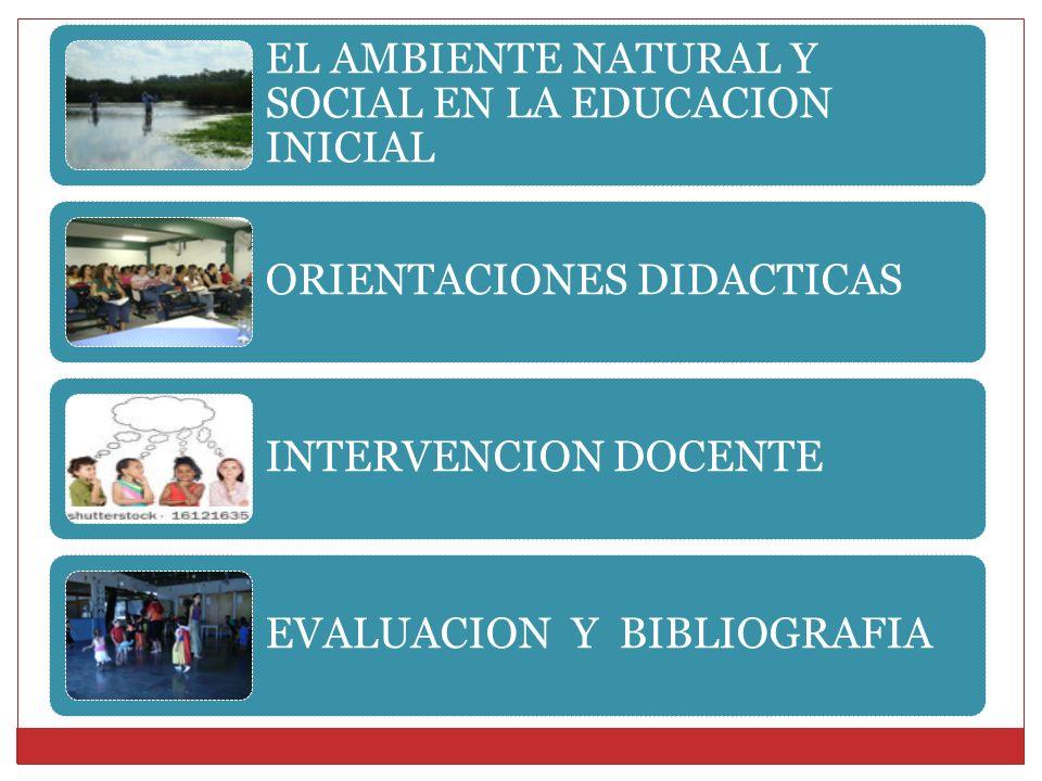 EL AMBIENTE NATURAL Y SOCIAL EN LA EDUCACION INICIAL