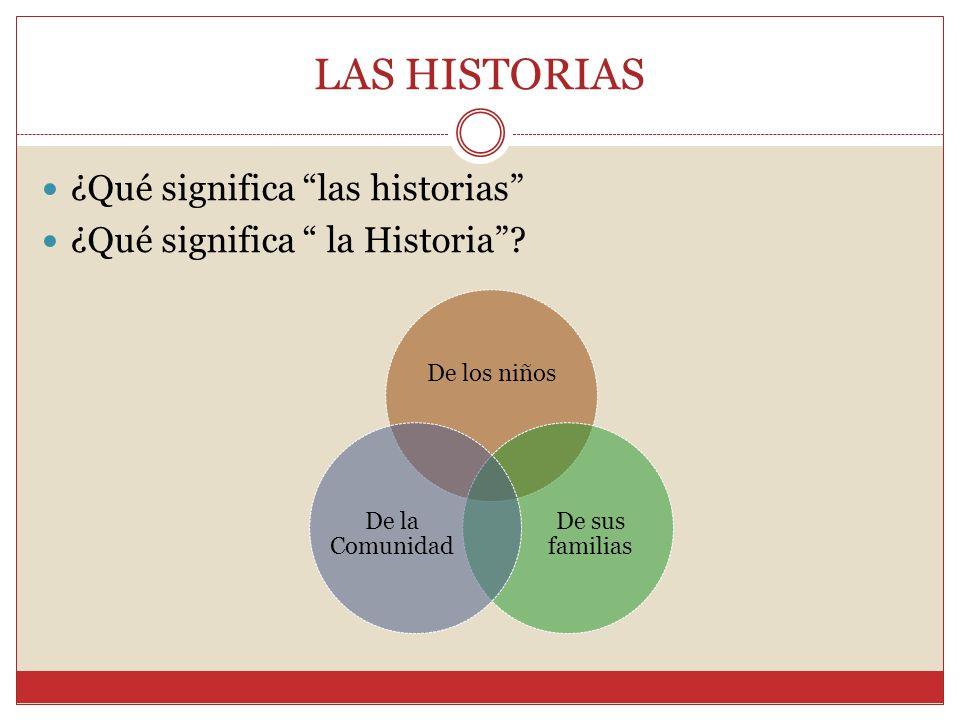 LAS HISTORIAS ¿Qué significa las historias