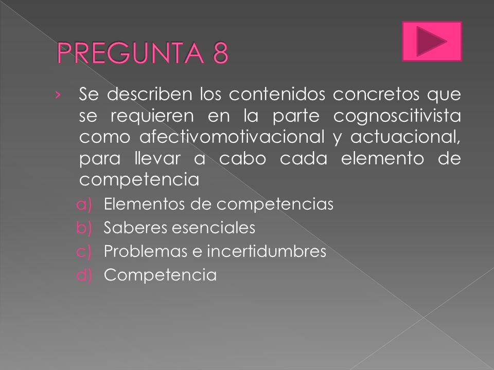 PREGUNTA 8