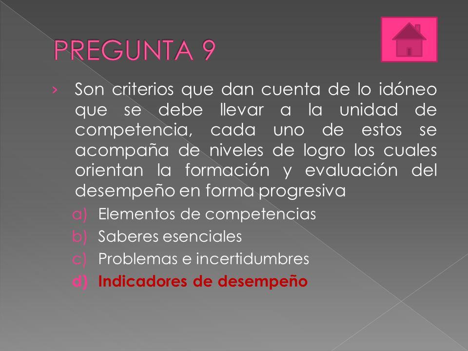 PREGUNTA 9