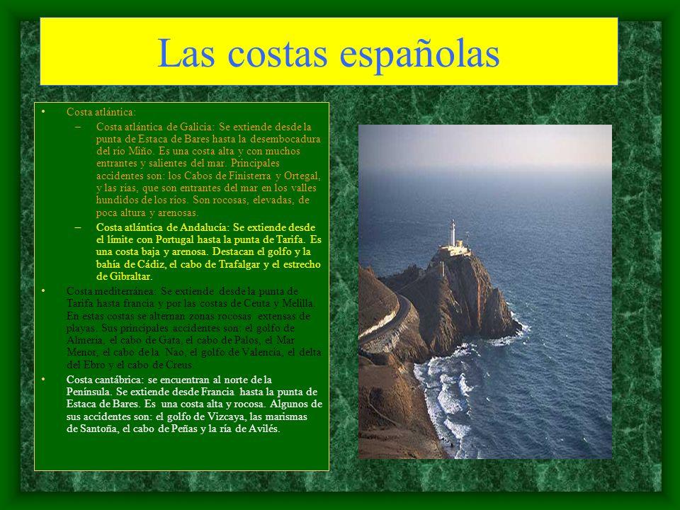 Las costas españolas Costa atlántica:
