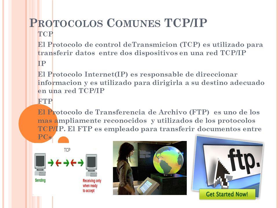 Protocolos Comunes TCP/IP