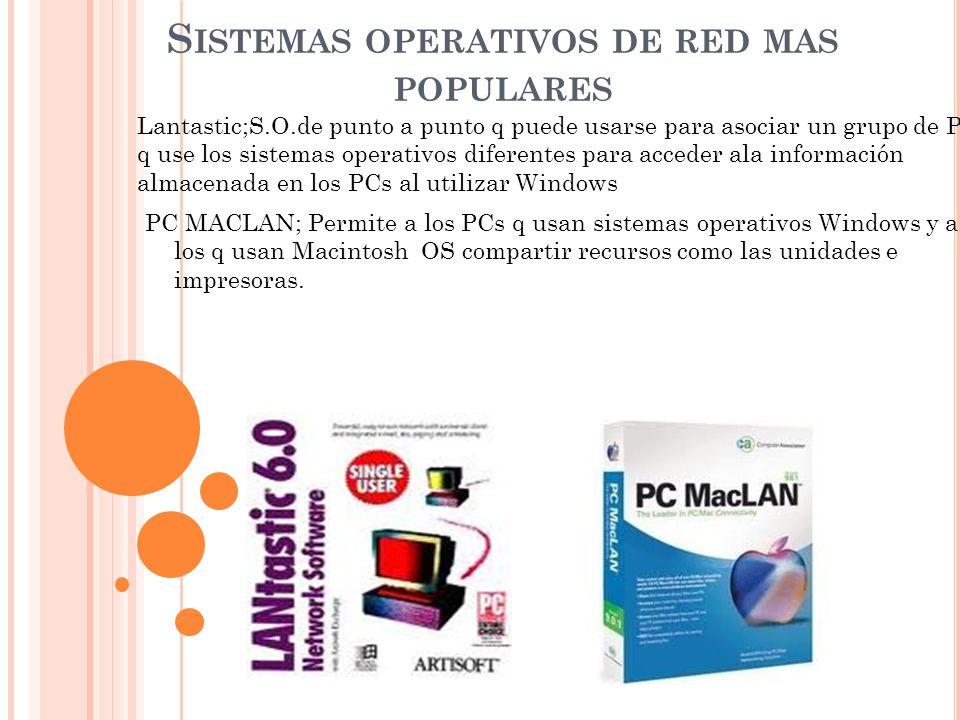 Sistemas operativos de red mas populares