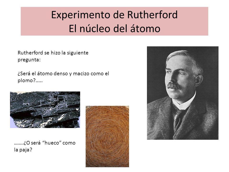 Experimento de Rutherford El núcleo del átomo