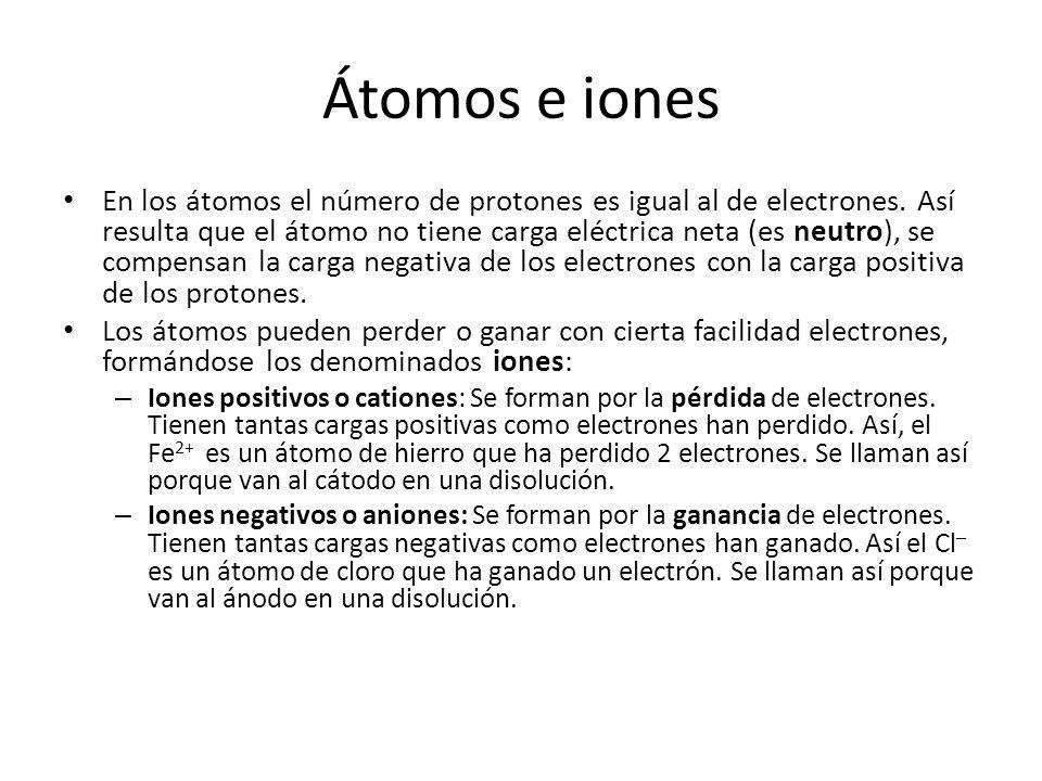 Átomos e iones