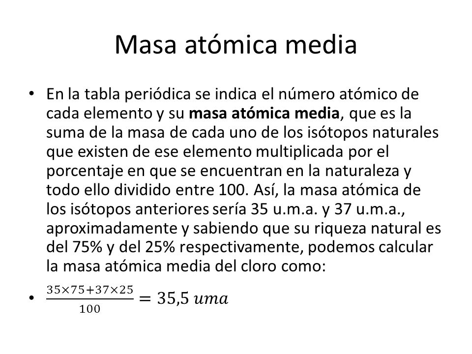Masa atómica media