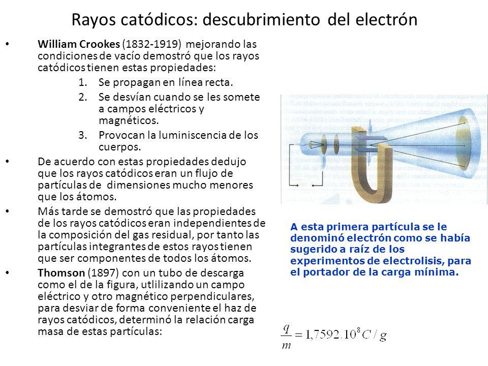 Rayos catódicos: descubrimiento del electrón