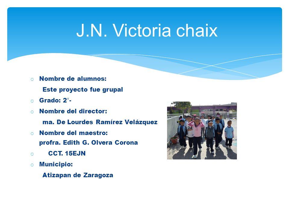 J.N. Victoria chaix Nombre de alumnos: Este proyecto fue grupal