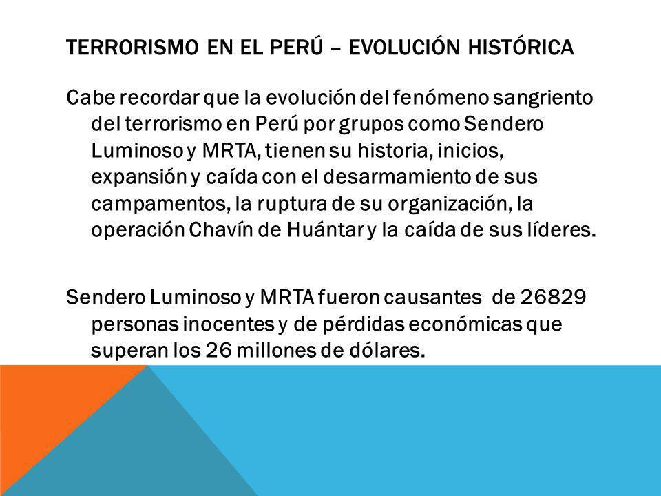 Terrorismo en el Perú – Evolución histórica