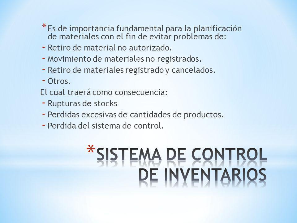 SISTEMA DE CONTROL DE INVENTARIOS