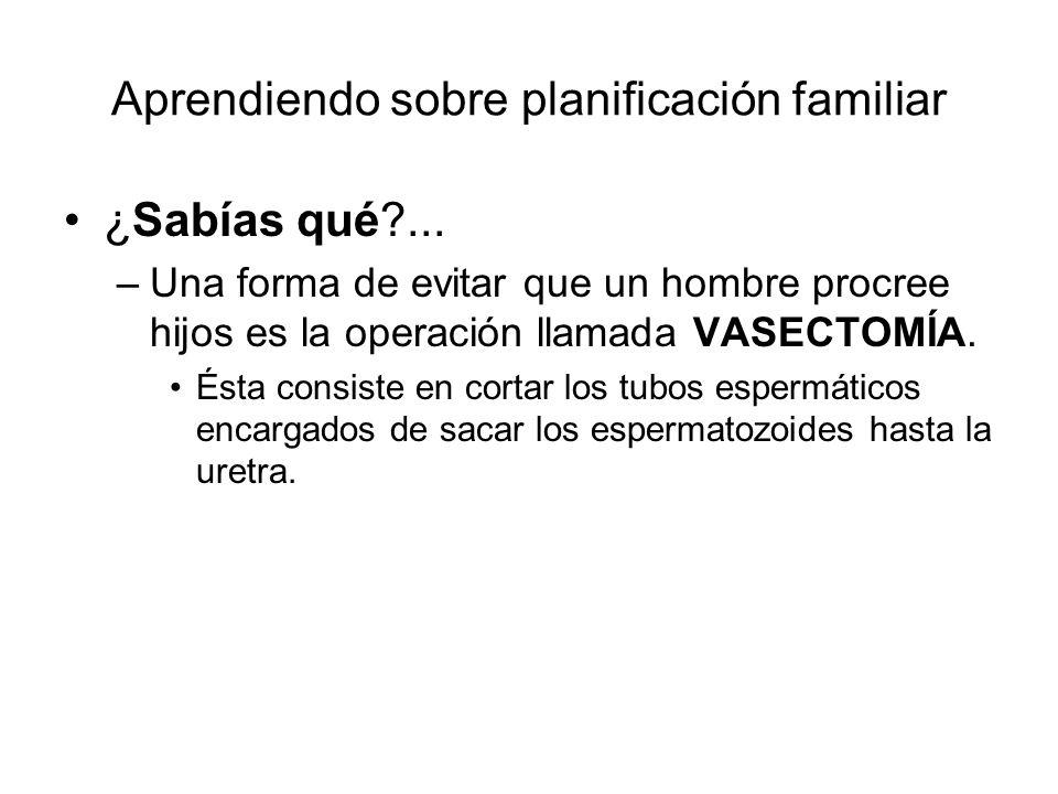Aprendiendo sobre planificación familiar
