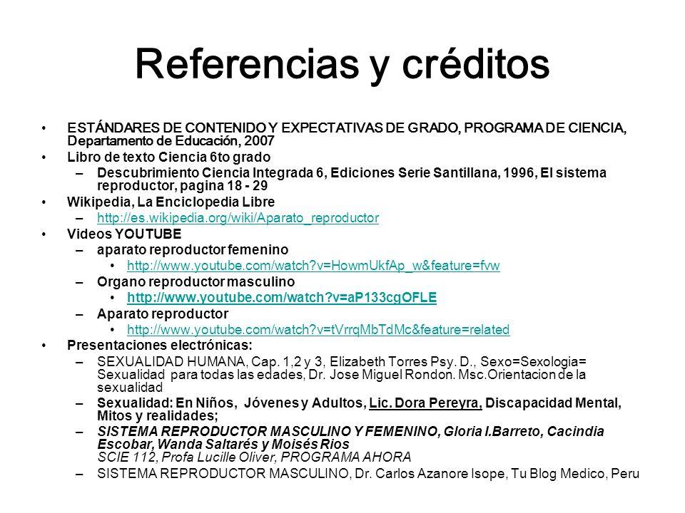 Referencias y créditos