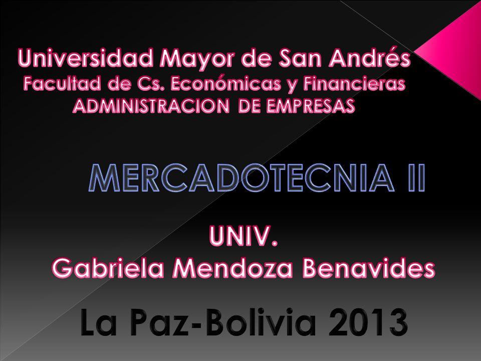 MERCADOTECNIA II La Paz-Bolivia 2013